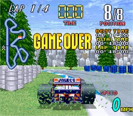 Game Over Screen for Grand Prix Star.