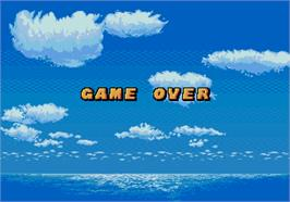 Game Over Screen for Grand Slam.