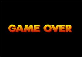 Game Over Screen for Grand Striker.