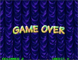 Game Over Screen for Gun Bullet.