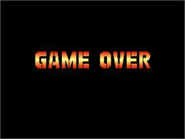 Game Over Screen for Gunforce 2.