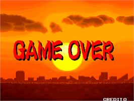 Game Over Screen for Gyakuten!! Puzzle Bancho.