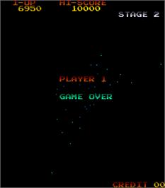 Game Over Screen for Gyruss.