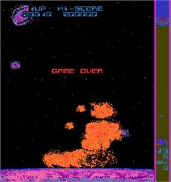 Game Over Screen for Halley's Comet '87.