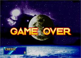 Game Over Screen for Hanafuda Hana Ginga.