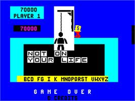 Game Over Screen for Hangman.