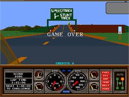 Game Over Screen for Hard Drivin'.