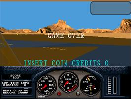 Game Over Screen for Hard Drivin's Airborne.