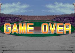 Game Over Screen for Hat Trick Hero '93.