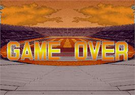 Game Over Screen for Hat Trick Hero '94.