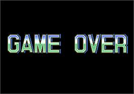 Game Over Screen for Hat Trick Hero '95.
