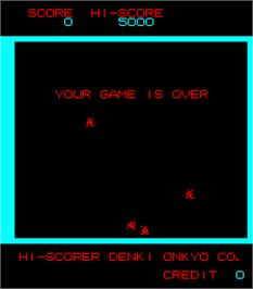 Game Over Screen for Heiankyo Alien.