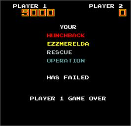 Game Over Screen for Hero in the Castle of Doom.