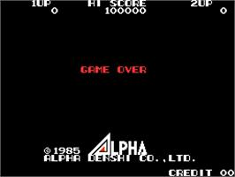 Game Over Screen for High Voltage.