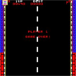 Game Over Screen for Highway Chase.