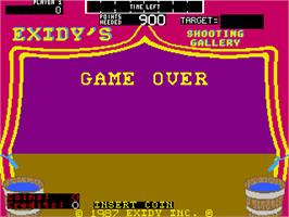 Game Over Screen for Hit 'n Miss.