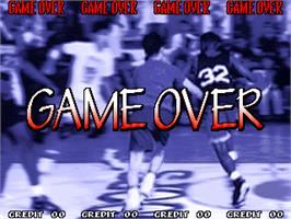 Game Over Screen for Hoops '96.