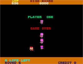 Game Over Screen for Hopping Mappy.