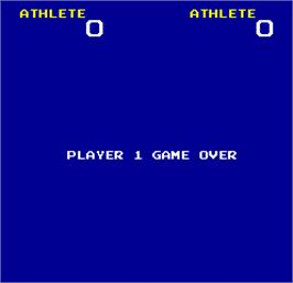 Game Over Screen for Hunchback Olympic.