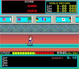 Game Over Screen for Hyper Olympic '84.