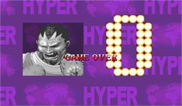 Game Over Screen for Hyper Street Fighter 2: The Anniversary Edition.