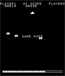 Game Over Screen for Invader's Revenge.