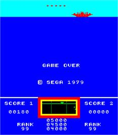 Game Over Screen for Invinco / Deep Scan.