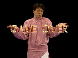 Game Over Screen for Jackie Chan - The Kung-Fu Master.