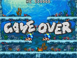 Game Over Screen for Joe & Mac Returns.