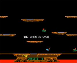 Game Over Screen for Joust.