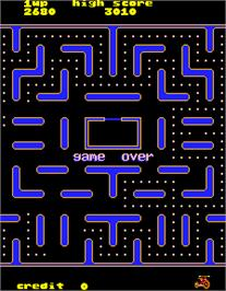 Game Over Screen for Jr. Pac-Man.