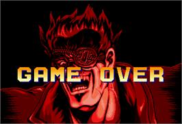 Game Over Screen for Karate Blazers.