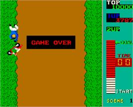 Game Over Screen for Kick Rider.