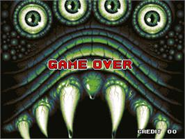 Game Over Screen for King of the Monsters 2 - The Next Thing.