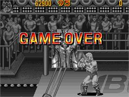 Game Over Screen for Knuckle Bash.