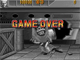 Game Over Screen for Knuckle Bash 2.