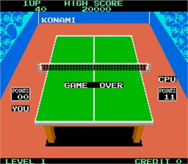 Game Over Screen for Konami's Ping-Pong.