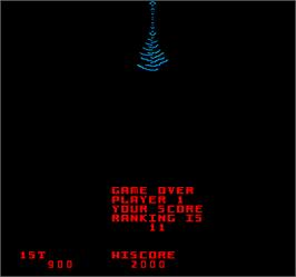 Game Over Screen for Kozmik Kroozr.