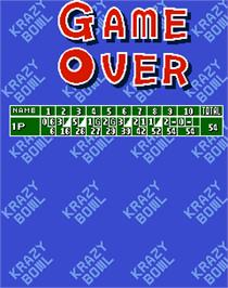 Game Over Screen for Krazy Bowl.