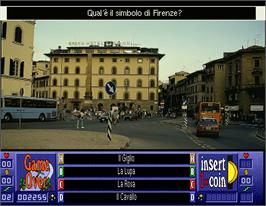 Game Over Screen for Laser Quiz Italy.