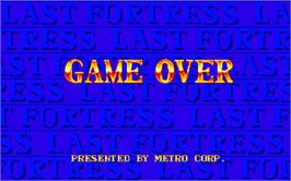 Game Over Screen for Last Fortress - Toride.