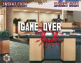Game Over Screen for Lethal Enforcers.