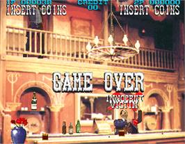 Game Over Screen for Lethal Enforcers II: The Western.