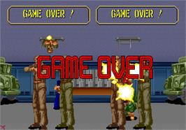 Game Over Screen for Line of Fire / Bakudan Yarou.