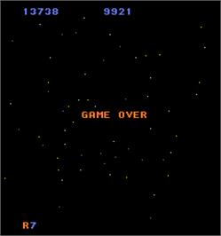 Game Over Screen for Mad Planets.