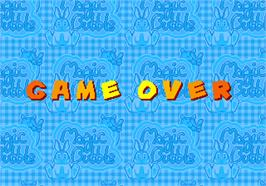Game Over Screen for Magic Bubble.