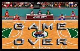 Game Over Screen for Magic Johnson's Fast Break.