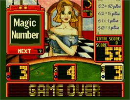 Game Over Screen for Magic Number.