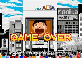 Game Over Screen for Mahjong Yarunara.