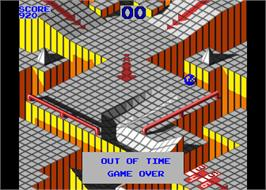 Game Over Screen for Marble Madness.